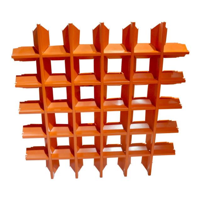 橙色v形铝格栅天花