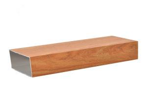 100*60木纹色铝合金方管