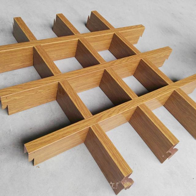 15*60木纹色铝格栅