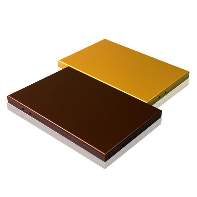 黄金色和咖啡金色铝单板