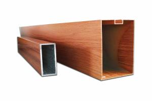 木纹色型材铝方通