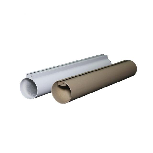 白色灰色凸槽铝圆管吊顶