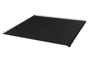 600*600铝扣板背贴黑色无纺布