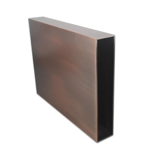 300*50*3.0mm规格拉丝古铜色铝方管