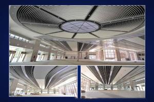 铝方通吊顶施工视频 会议厅吊顶铝方通