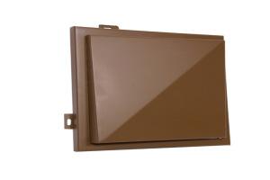 咖啡色铝单板活动检修口