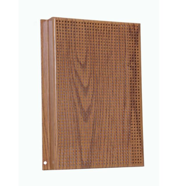 木纹色冲孔勾搭铝单板