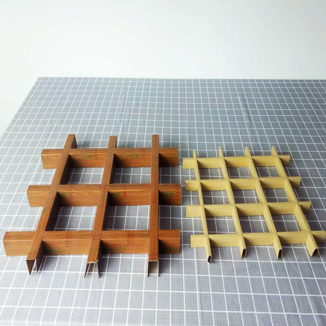50*20和30*10mm木纹铝格栅对比