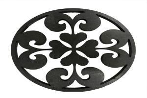 黑色圆形铝合金雕刻窗花
