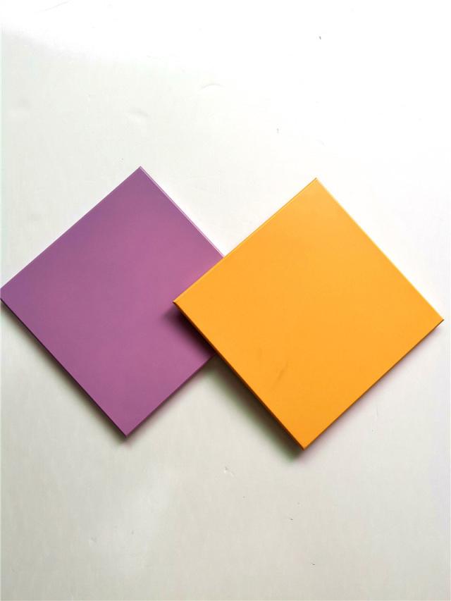 300*300黄色和紫色铝扣板