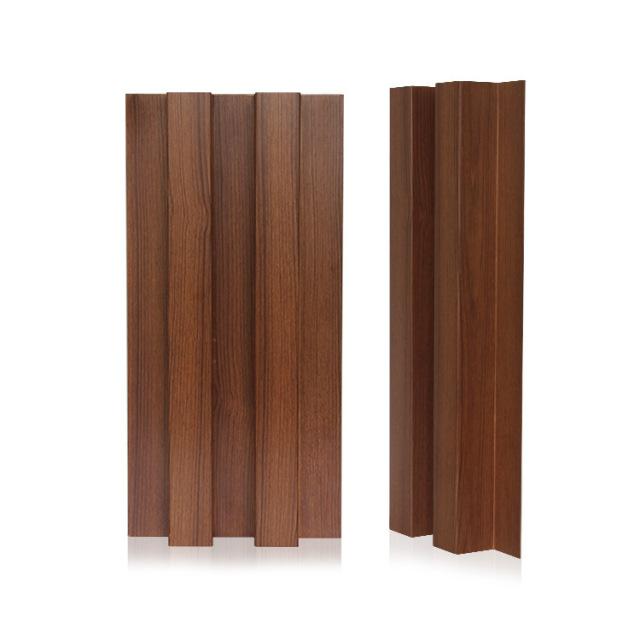 木纹色辊压成型长城铝单板