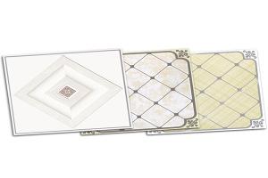 菱形图案印花铝扣板