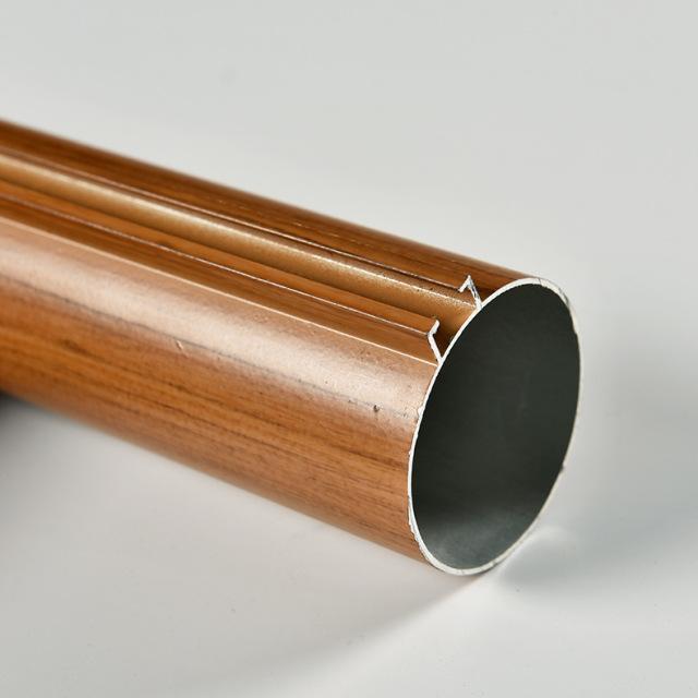 直径50mm木纹色凸槽铝圆管
