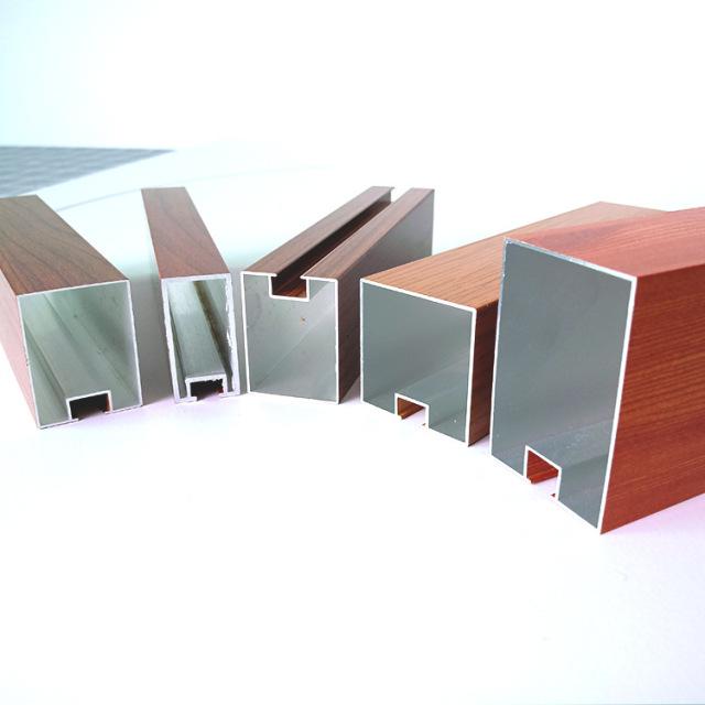 各种规格的凹槽木纹铝方通