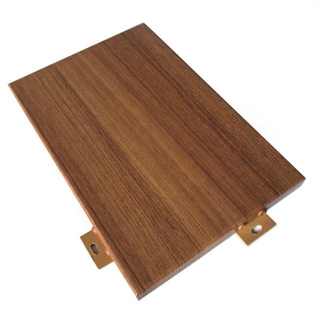 长直纹理木色铝单板