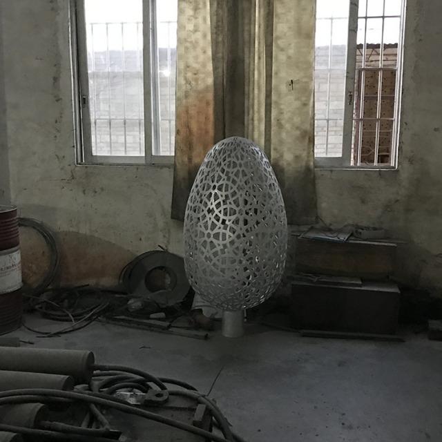 镂空蛋形艺术造型铝单板工艺品