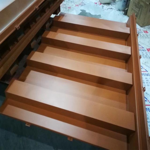 木纹色凹凸长城铝板