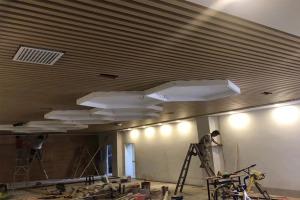 白色六边形吊顶铝单板