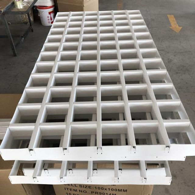 白色组合铝格栅60*20mm规格