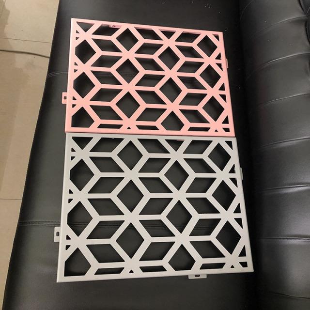 激光雕刻菱形孔超尖内角镂空铝单板