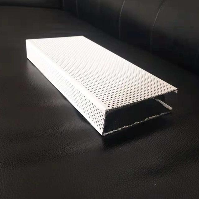 100*30冲孔白色u形铝方通