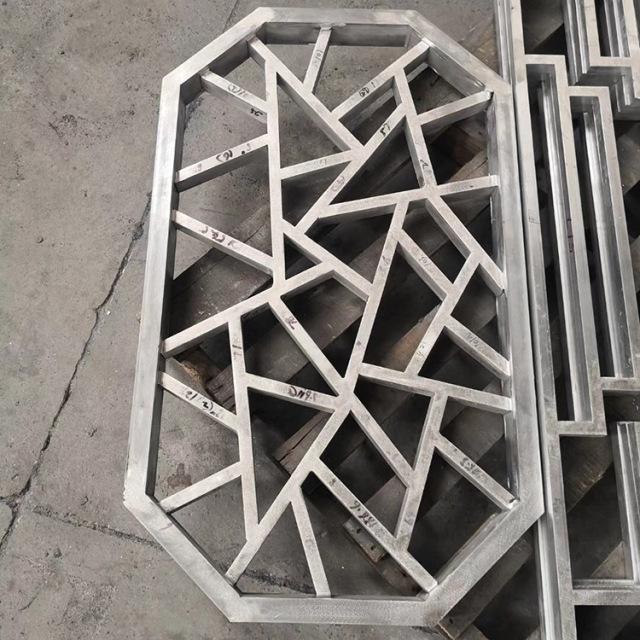 八边形中式不规则纹理焊接铝窗花