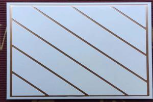 斜纹金丝边压纹铝扣板