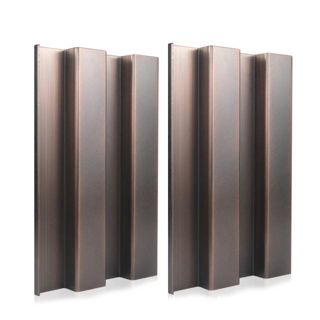 电镀仿古铜拉丝凹槽长城铝单板