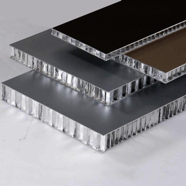 深灰色滚涂氟碳铝蜂窝板
