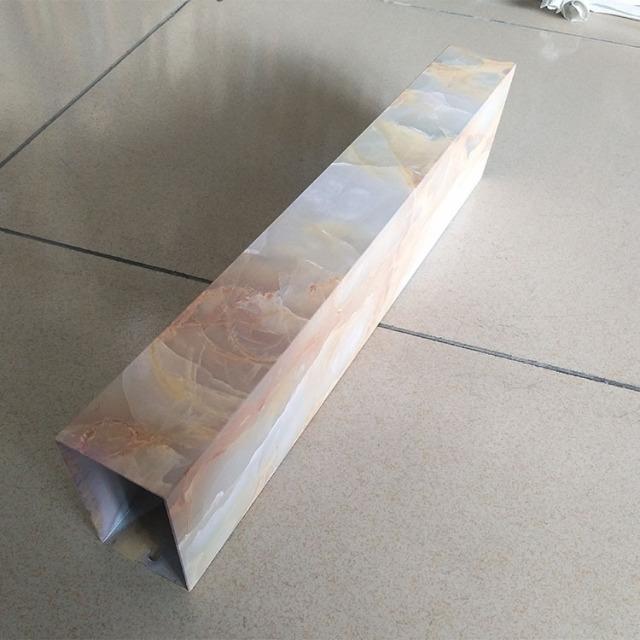 仿石纹热转印铝方管