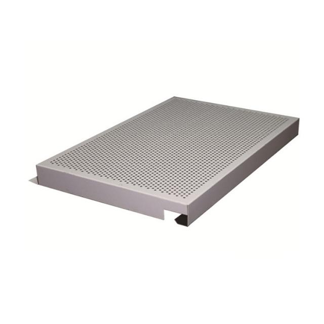 梅花冲孔白色勾搭铝单板