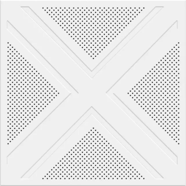 三角形排布冲孔压纹铝扣板