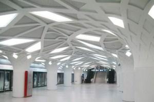 地铁站树枝造型铝单板
