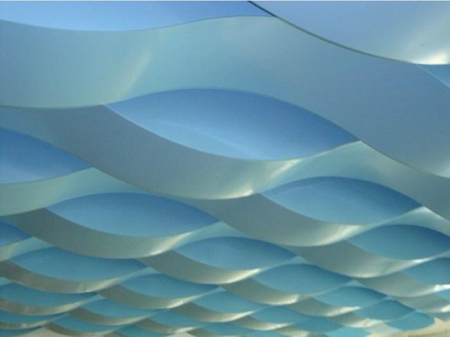 水立方造型波浪形铝单板吊顶