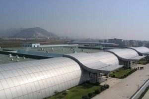 高铁站弧形天棚铝板