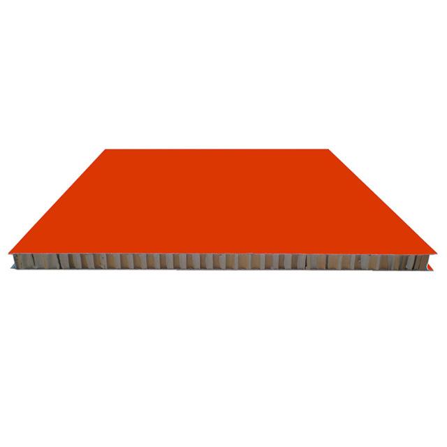红色不包边铝合金蜂窝板