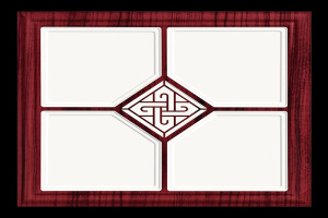 中式木纹田字形二级吊顶铝扣板
