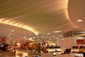 商场造型弧形铝方通