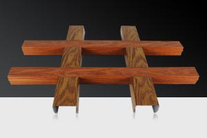 木纹色宽底铝格栅 50*50宽底铝格栅