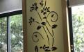 喇叭花造型激光雕刻铝单板牌匾