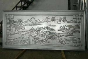 浮雕龙纹图案超厚铝单板 正在浮雕加工超厚铝板