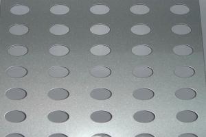 闪银灰冲孔氟碳铝单板
