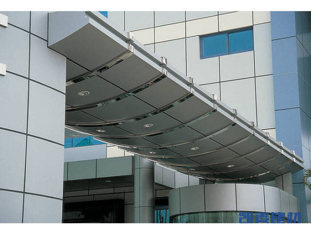 门头弧形铝单板