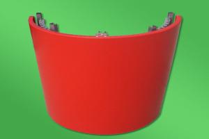 红色包柱铝单板