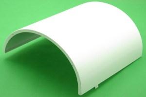 白色包柱铝单板