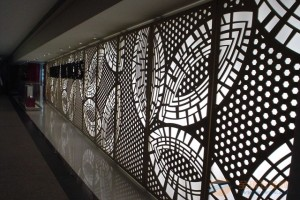 雕花铝板屏风