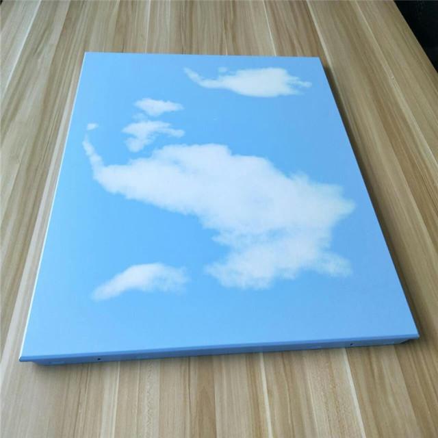 600*600蓝天白云印花图案铝扣板