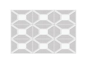 冲孔井形铝扣板花式
