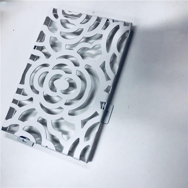 雕刻玫瑰花造型铝单板