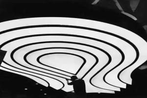 圆形吊顶白色铝单板